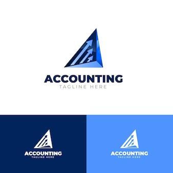 グラデーションビジネス会計のロゴのテンプレート Premiumベクター