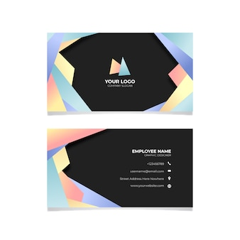 Gradient business card abstract design