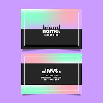Концепция градиента визитной карточки