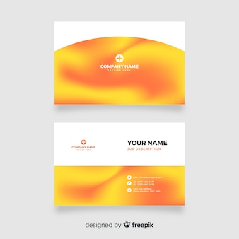 Gradient business card template