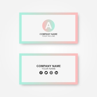 Gradient business card wiht a logo