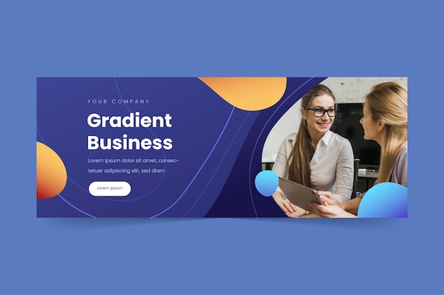 グラデーションビジネスfacebookカバー