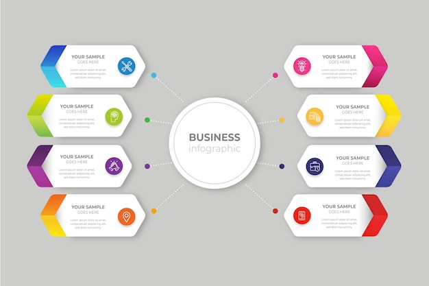 Gradient business infographic