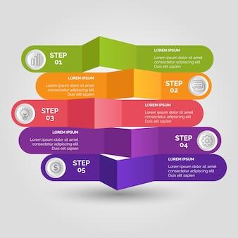 Gradient business infographic
