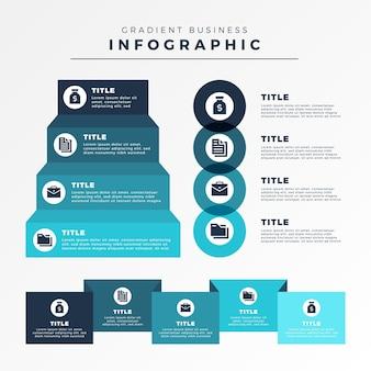 Шаблон градиентной бизнес-инфографики