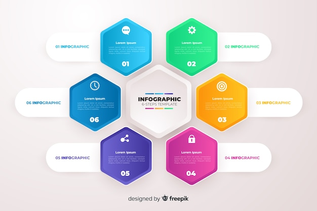 Gradient business infographics template