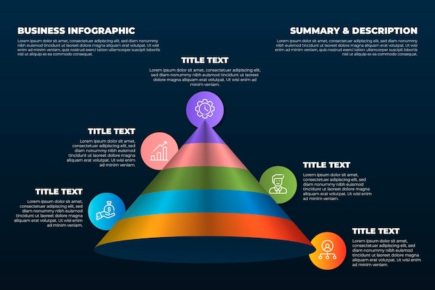 グラデーションビジネスインフォグラフィック