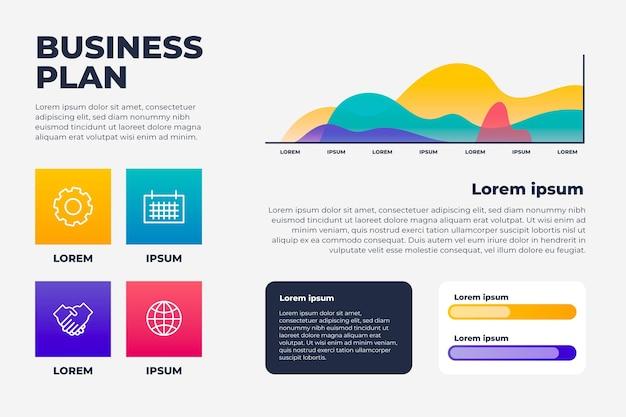 Градиентная бизнес-инфографика