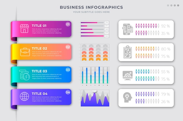 Gradient business infographics