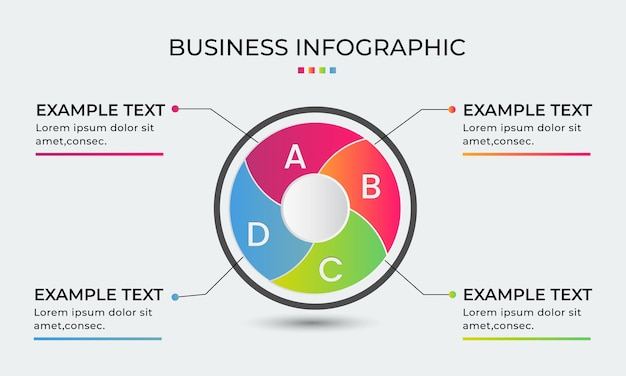 그라데이션 비즈니스 프로세스 infographic 디자인