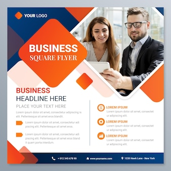 Gradient business squared flyer