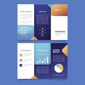 Gradient business trifold template