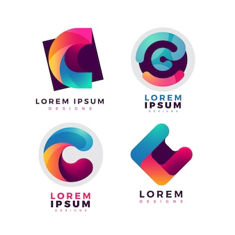 Gradient c logos collection