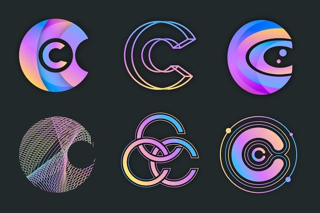 グラデーションcロゴコレクション