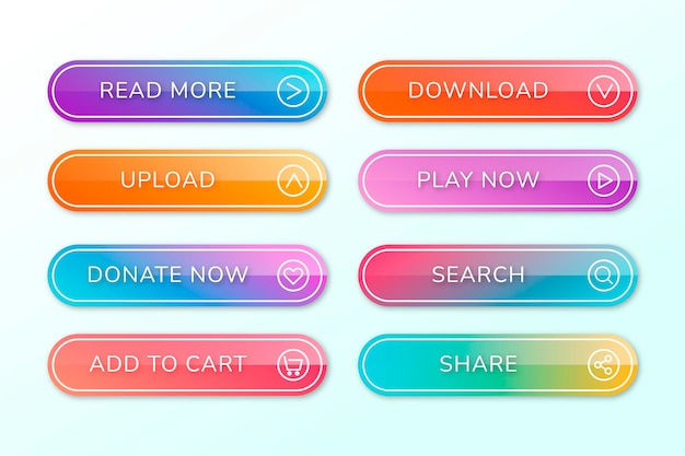 Gradient call to action button collection
