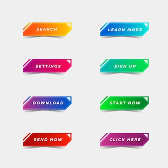 Gradient call to action button pack