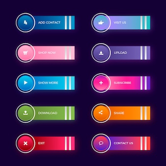 Gradient call to action buttons collection