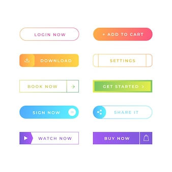 Gradient call to action buttons