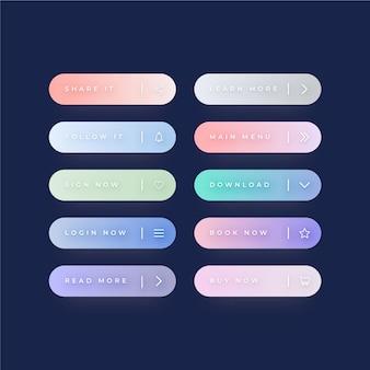 Набор градиентных кнопок с призывом к действию