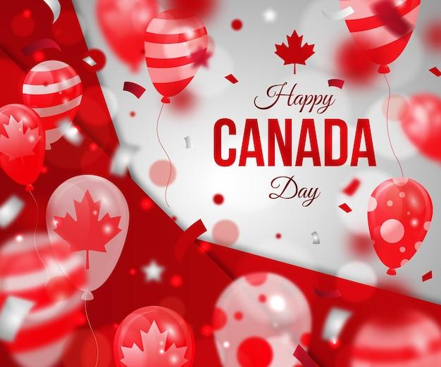 그라데이션 캐나다 하루 풍선 배경