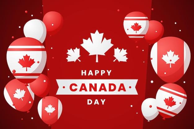 Градиент день канады воздушные шары фон