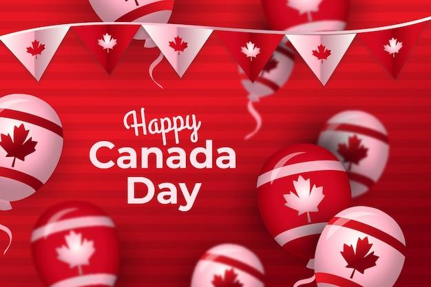 Градиентная иллюстрация празднования дня канады