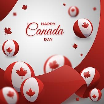 Градиент день канады иллюстрация