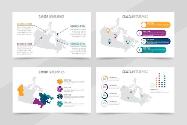 Градиент канады карта инфографики