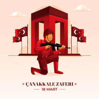 Gradient canakkale illustration