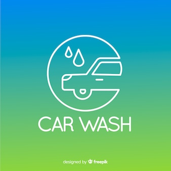 Gradient car wash logo background