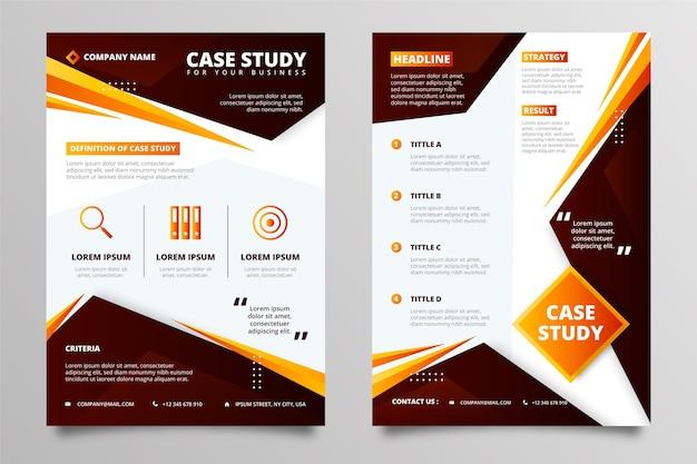 Gradient case study flyers template