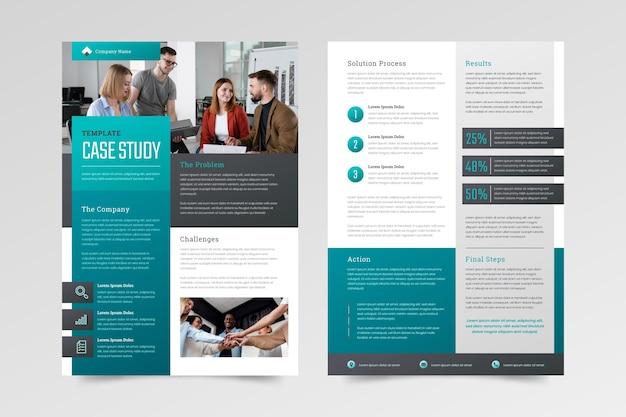 Gradient case study flyers