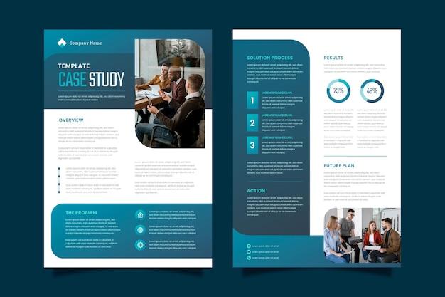 Gradient case study flyers Free Vector