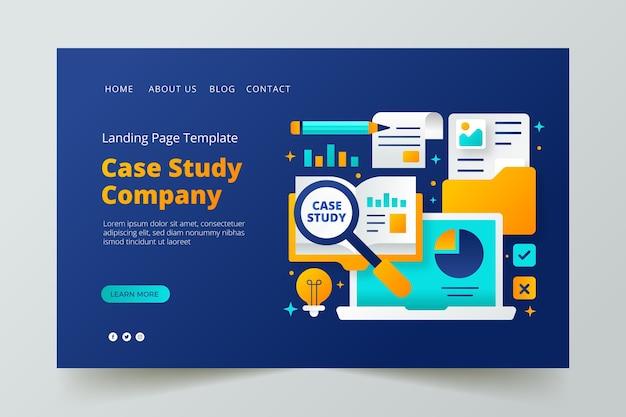 Gradient case study landing page