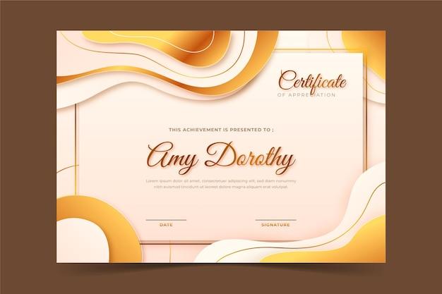Gradient certificate of achievement