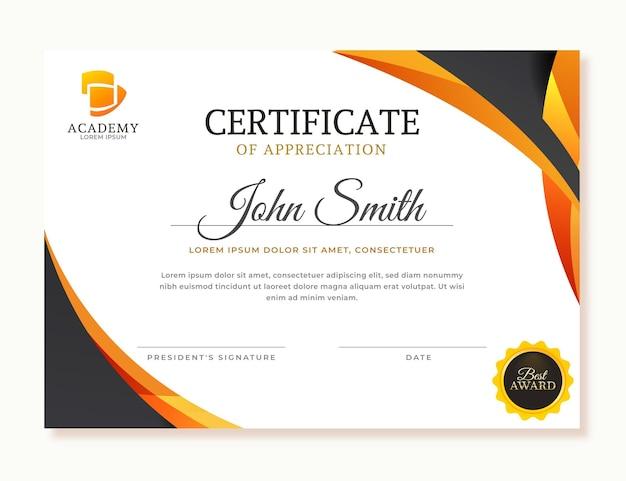 Gradient certificate of appreciation