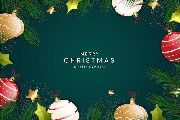 グラデーションのクリスマスの背景