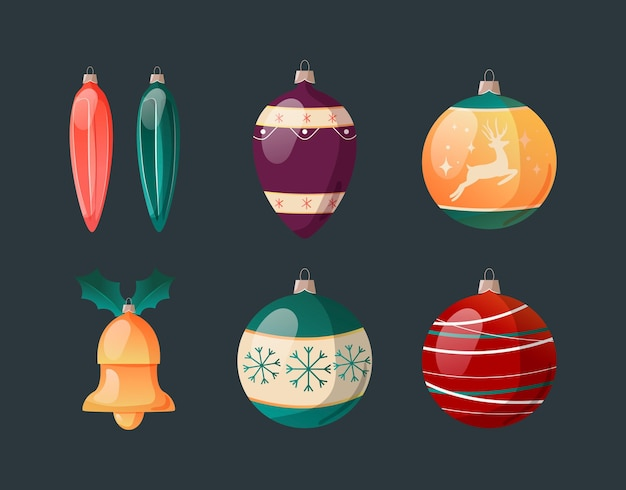 Gradient christmas ball ornaments collection