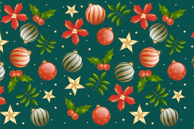 Gradient christmas pattern design