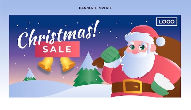 Градиент рождественская распродажа горизонтальный баннер