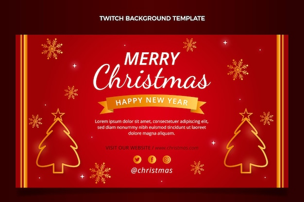 Gradient christmas twitch background