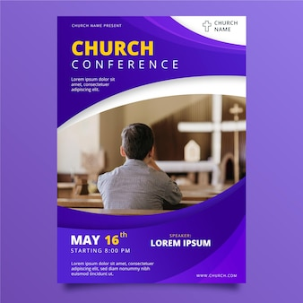 Gradient church flyer template
