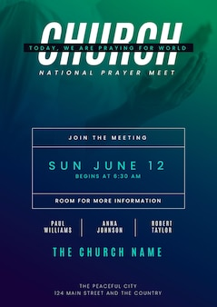 Gradient church flyer template