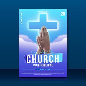 Volantino chiesa gradiente con foto