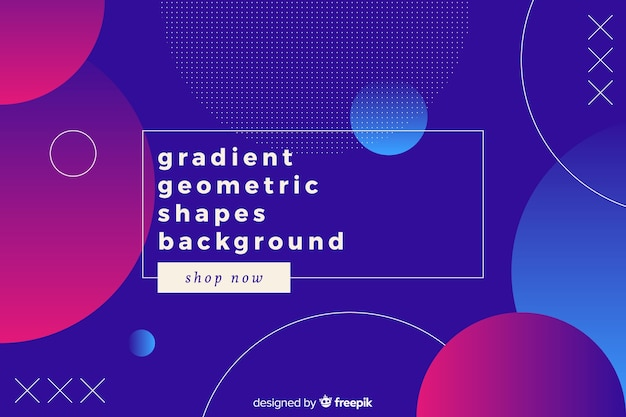 Gradient circle shapes background