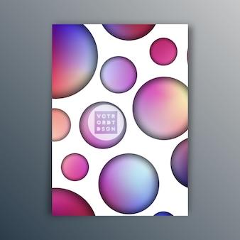 Дизайн градиентных кругов для брошюры, обложки флаера, абстрактного фона, плаката или другой полиграфической продукции. векторная иллюстрация.