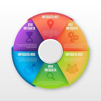 Градиент круговой диаграммы инфографики Premium векторы