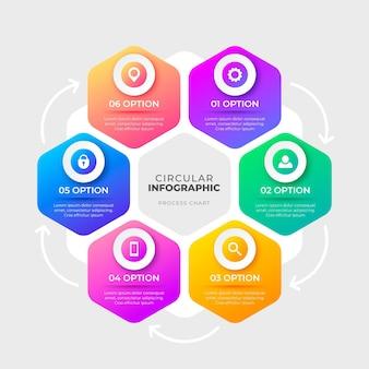 Gradiente diagramma circolare infografica Vettore gratuito