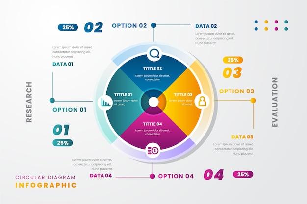 梯度圆形图Infographic