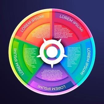 Gradient circular diagram infographic